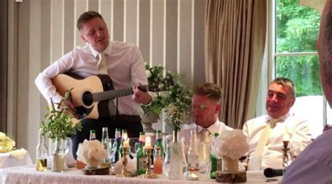 Best Man Writes Song For Wedding And Ribs Into Groom For