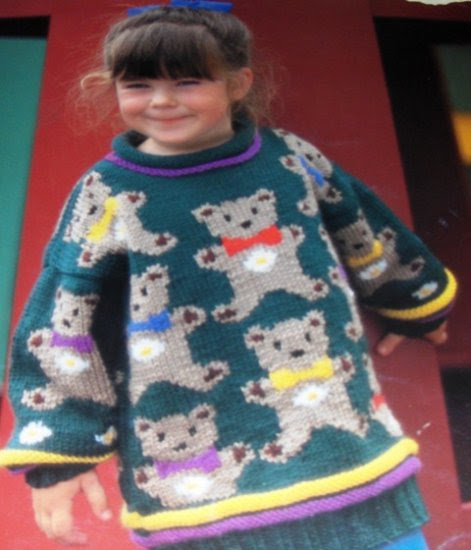 Teddy Bear Sweater Knitting Pattern Sizes For Child 3 To 8 Graph