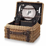 NBA San Antonio Spurs Champion Picnic Basket with Deluxe Service for Two
