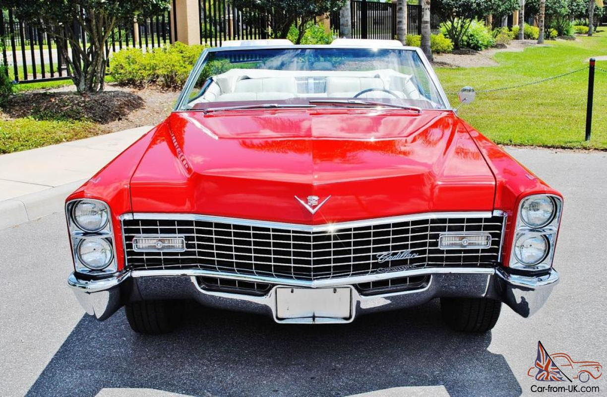 absolutly beautiful red 1967 Cadillac DeVille Convertible ...