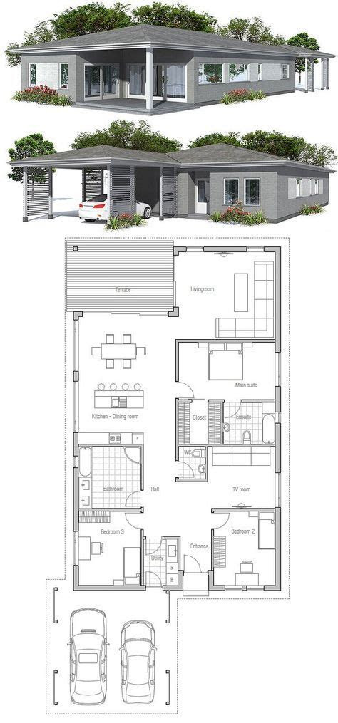 ideas  narrow house plans  pinterest
