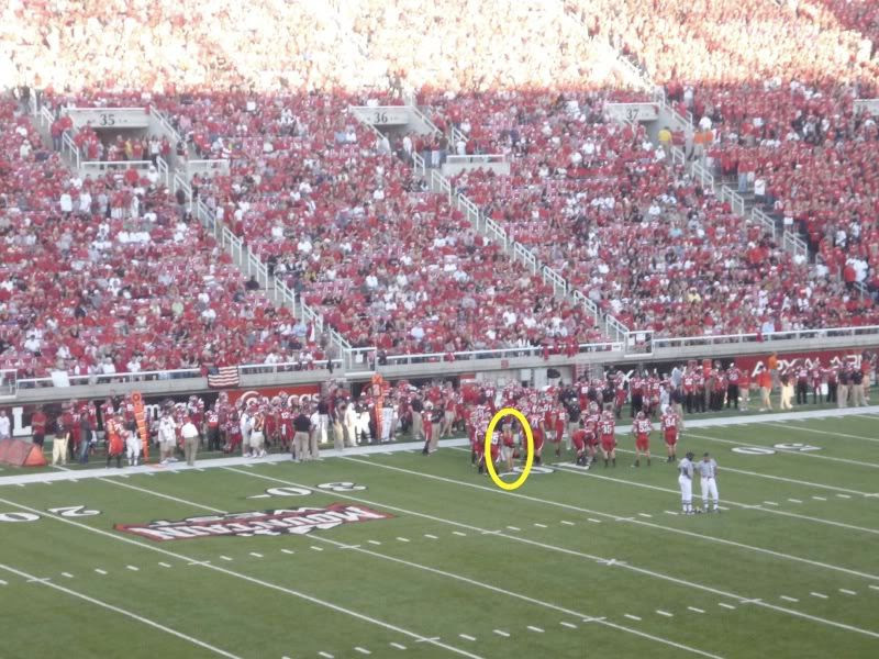Sica on the field (marked)
