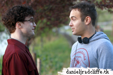April 19: Daniel Radcliffe on set Kill Your Darlings