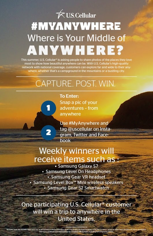 U.S. Cellular MyAnywhere Contest - Win a Trip Anywhere in the U.S.