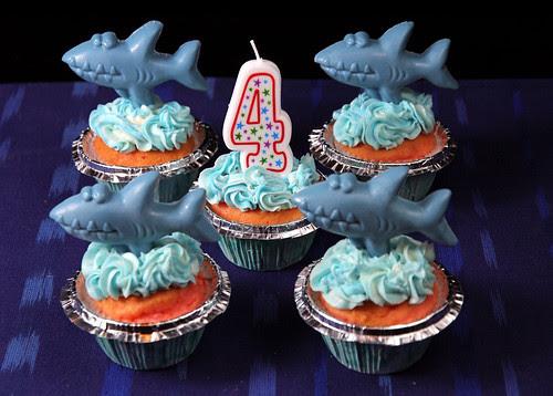 Maks's 4th Birthday Cupcakes