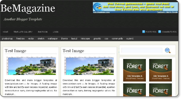 BeMagazine Free Blogger Template