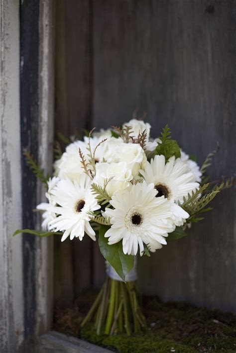 white and navy gerbera daisy bouquet country   Google