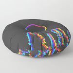 """Cmyk In Rgb Moon In Forest Floor Pillow by Andy Hendren - ROUND - 30"""" x 30"""""""