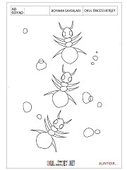 Karınca Boyama Sayfaları