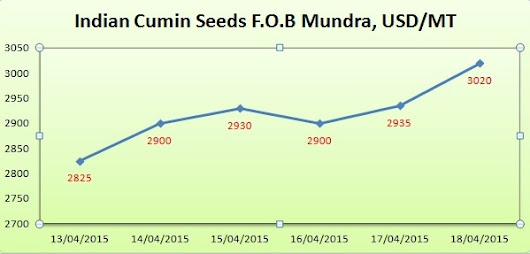 Indian Cumin Seeds Market Report From 13-04-2015 to 18-04-2015
