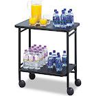 Safco Folding Office Cart - Trolley - 2 shelves - steel - black