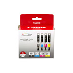 Canon CLI 251 4 Color Pack Ink tank, Cyan/Yellow/Black/Magenta - 1-pack