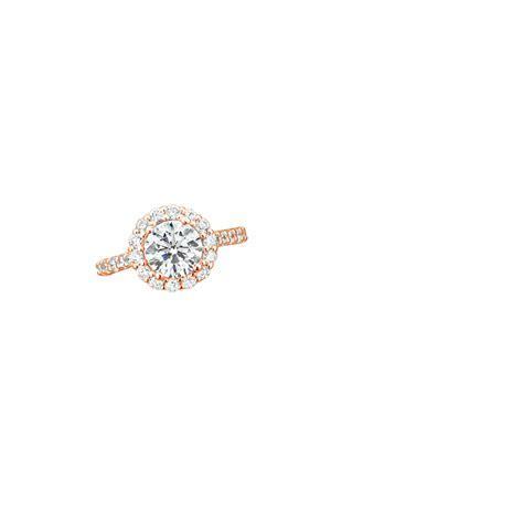 14K Rose Gold Lotus Flower Diamond Ring with Side Stones