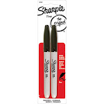 Sharpie - Marker - permanent - black - fine - pack of 2