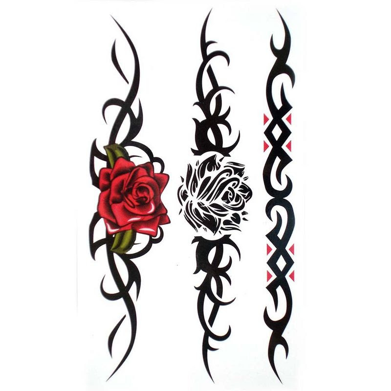 Lovely Tribal Flower Tattoo Design Clip Art Library