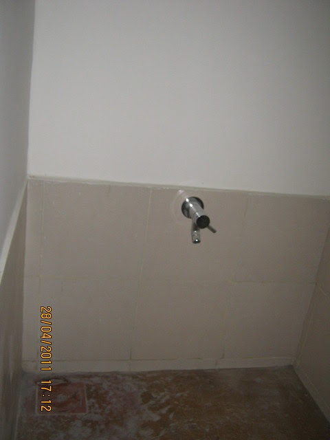 Water tap in the dry balcony in Sangria Towers at Megapolis Hinjewadi Phase 3, Pune