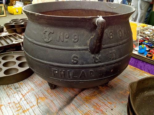 6 gallon cast iron bean pot