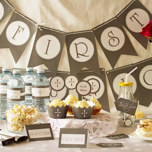 First Communion Party Ideas - Ilona's Passion