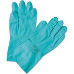 Ansell Sol-Vex Sandpatch-Grip Nitrile Gloves, Green, Size 8