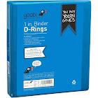 """1"""" 275 Sheet Ring Binder Blue - Yoobi"""