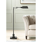 Jenson Dark Bronze Adjustable Pharmacy Floor Lamp - Style # 42D34