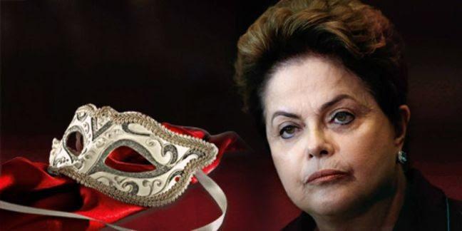 Dilma a máscara (Foto: Arte: Antônio Lucena)