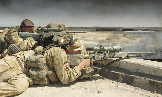 SAS sniper kills THREE ISIS fighters with a single shot in Iraqi