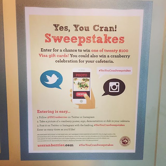 Cranberry Marketing Committee kicks of the #YesYouCranSweepstakes to promote the SuperFood of the month - American Sweepstakes