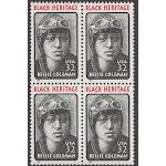 1995 - Bessie Coleman Black Heritage Block Of 4 32c Postage Stamps - MNH - Sc # 2956 - CX816