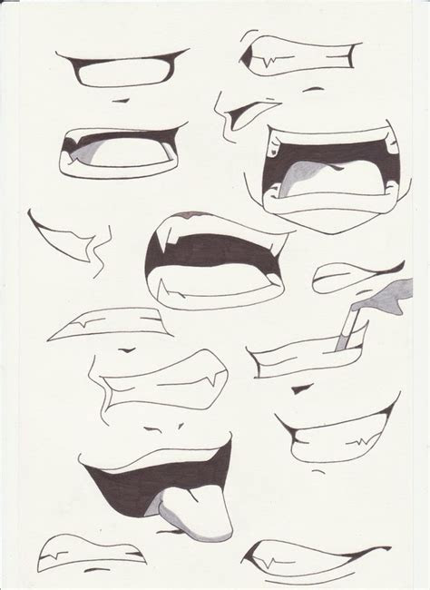 mouths ideas  anime drawings pinterest