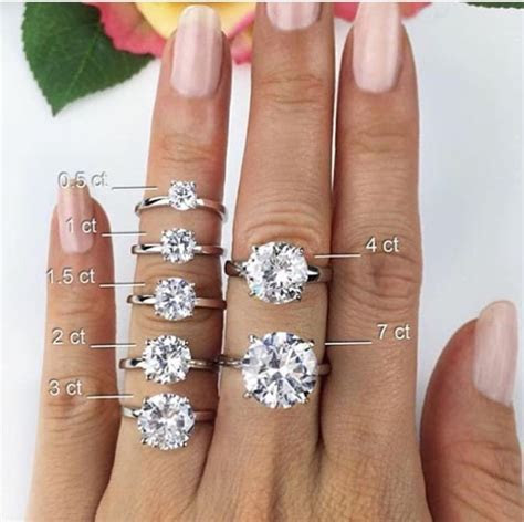 25  best ideas about Diamond sizes on Pinterest   2 carat