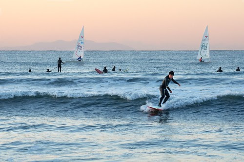 New Year surfers