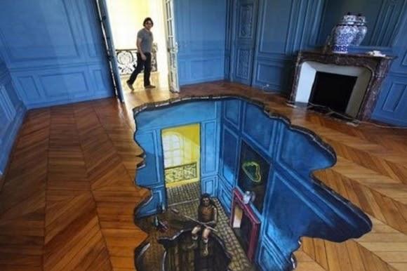 Gạch 3D lát nền biến sàn nhà thành các tác phẩm nghệ thuật 8