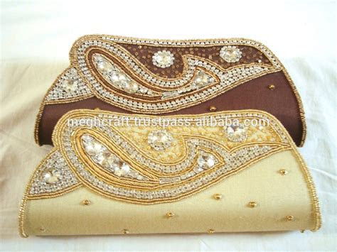 Wholesale Indian Ethnic Beaded Clutch Purse bridal Hand