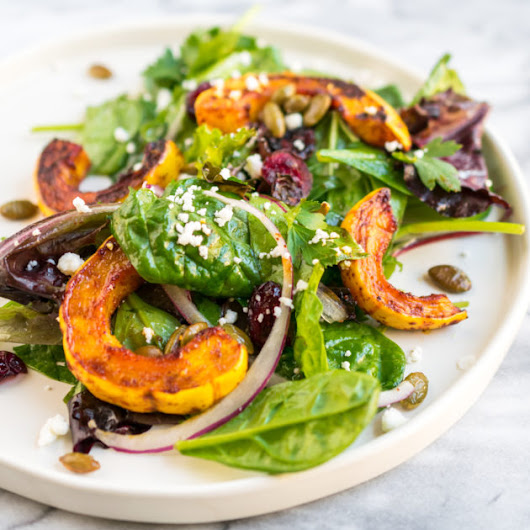 Berbere Delicata Squash Salad - Recipe by Cooks and Kid