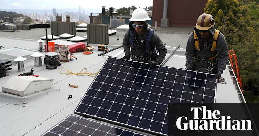 California poised to be first state to require solar panels on new homes | US news | The Guardian