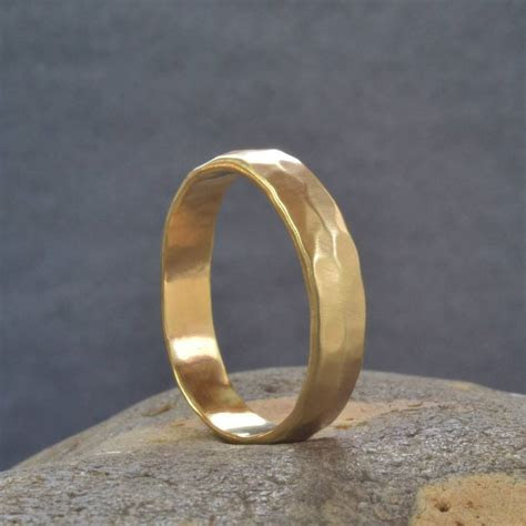 handmade gold hammered wedding ring by muriel & lily