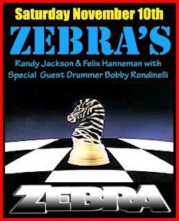 Zebra Plays L'Amour on November 10th