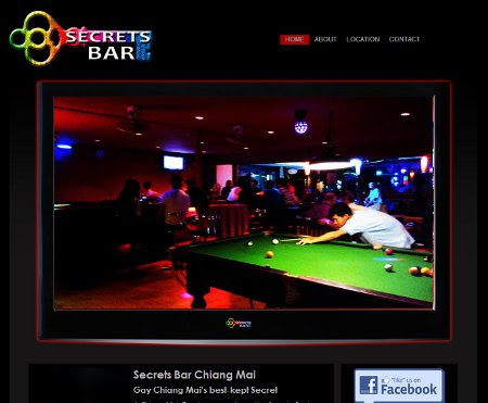 Gay website design for Secrets Gay Bar in Chiang Mai