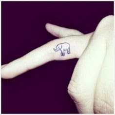11 Fantastic Elephant Tattoos For Fingers