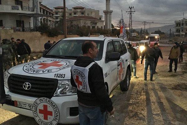Aiuti dell'Onu per Madaya (Foto: International Committee of the Red Cross)