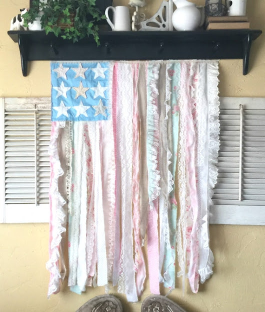 Sewing Pattern PDF Americana Cottage Style Flag Wallhanging