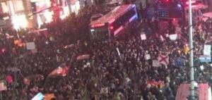 Anti-Trump protest in New York on Dec. 9
