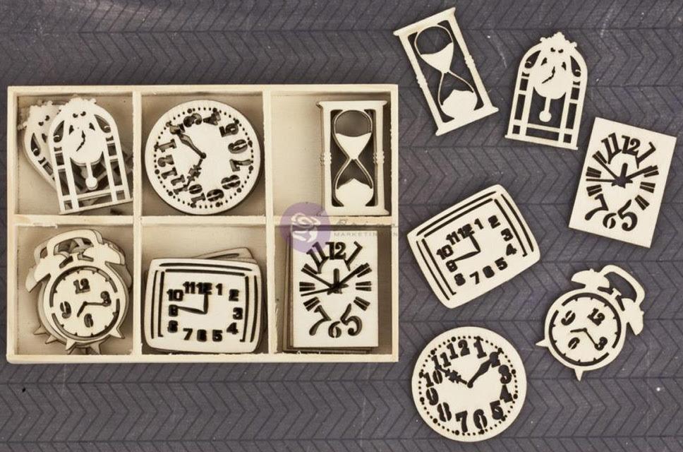 Prima Wood Embellishments - Clocks
