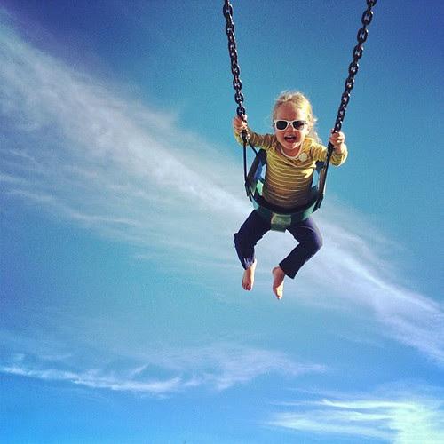 Higher daddy, higher!