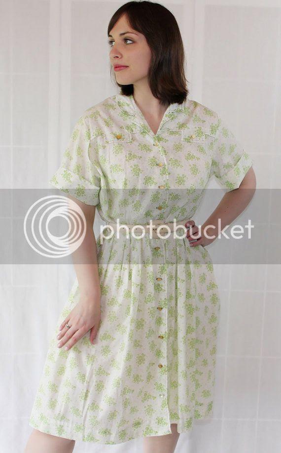 vintage etsy plus size1950s dress
