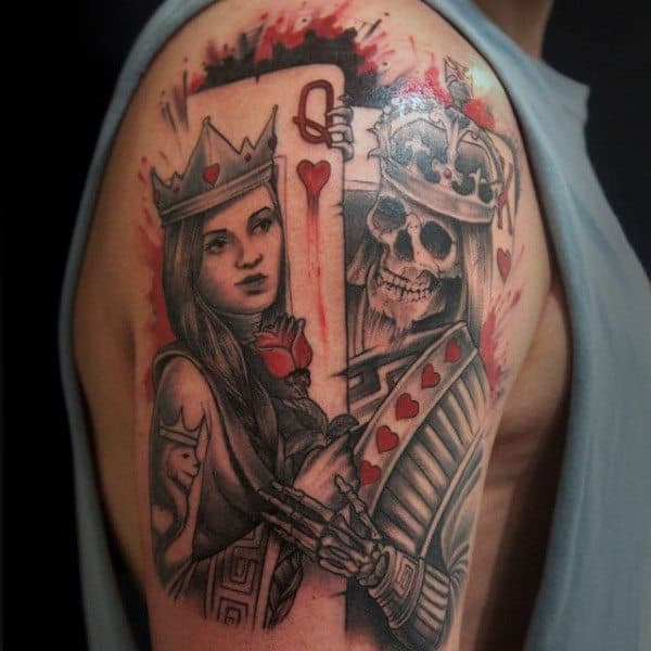 90 Playing Card Tattoos For Men - Lucky Design Ideas