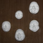Faces molded using Creative Paperclay