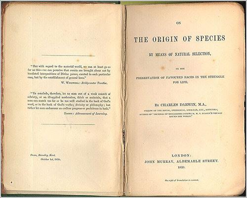 Edición original de El origen de las especies
