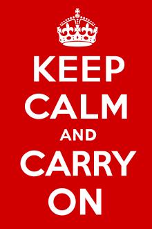 Keep Calm - imagem retirada da Wikipédia
